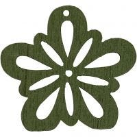 Flower, D: 27 mm, dark green, 20 pc/ 1 pack