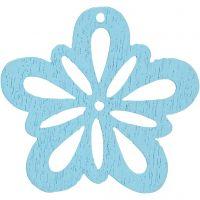 Flower, D: 27 mm, light turquoise, 20 pc/ 1 pack