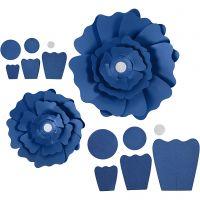 Paper Flowers, D: 15+25 cm, 230 g, blue, 2 pc/ 1 pack