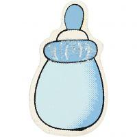 Milk Bottle, size 22x37 mm, light blue, 10 pc/ 1 pack