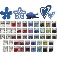 Wood decoration, Content may vary , assorted colours, 50 pack/ 1 pack