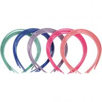 Hair Bands, W: 8 mm, assorted colours, 20 pc/ 1 pack
