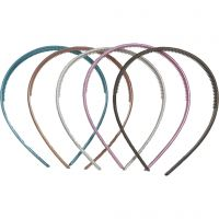 Hair Band, W: 10 mm, 10 asstd./ 1 pack