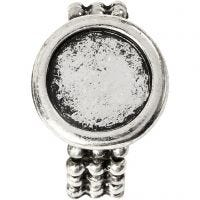 Cabochon Ring, D: 19 mm, hole size 14 mm, antique silver, 1 pc