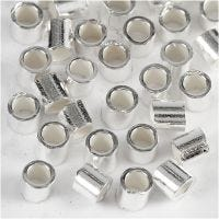 Crimp Beads, D: 2 mm, sterling silver, 50 pc/ 1 pack