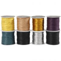 Cotton Cord, thickness 1 mm, assorted colours, 8x40 m/ 1 pack