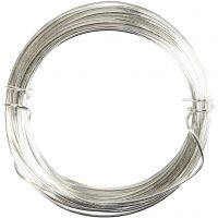 Silver-plated Wire, thickness 0,6 mm, silver-plated, 10 m/ 1 roll