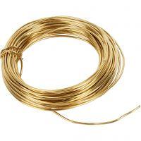 Brass Wire, thickness 1,2 mm, 100 g, brass, 10 m/ 1 roll