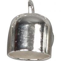 End Caps, D: 8 mm, silver-plated, 50 pc/ 1 pack
