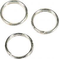 Split Ring, D: 5 mm, silver-plated, 30 pc/ 1 pack