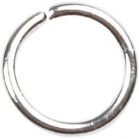 Jump Ring, size 5,4 mm, thickness 0,7 mm, silver-plated, 500 pc/ 1 pack