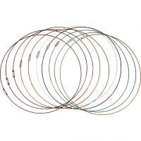 Wire with Clasp, L: 45 cm, thickness 1 mm, 20 pc/ 1 pack