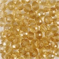 Faceted Beads, size 5x6 mm, hole size 1 mm, topaz, 100 pc/ 1 pack