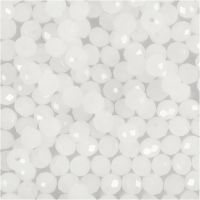 Faceted Beads, size 3x4 mm, hole size 0,8 mm, frosted, 100 pc/ 1 pack