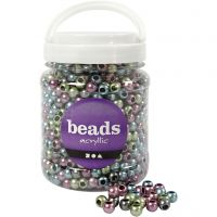 Pony Beads, D: 10 mm, hole size 4 mm, 700 ml/ 1 tub, 380 g