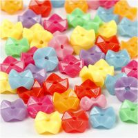 Shape Beads, D: 9,5 mm, hole size 1,5 mm, assorted colours, 125 ml/ 1 pack, 75 g