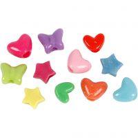 Novelty Shape Beads, D: 10 mm, hole size 3,5 mm, 125 ml/ 1 pack, 65 g