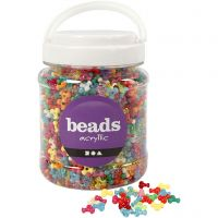 Tri-Beads, D: 10 mm, hole size 2 mm, assorted colours, 700 ml/ 1 tub, 385 g