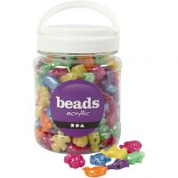 Novelty Shape Beads, size 25 mm, hole size 4 mm, mother of pearl colours, 700 ml/ 1 tub