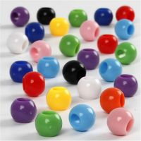 Pony Beads, D: 8 mm, hole size 4 mm, 125 ml/ 1 pack, 70 g