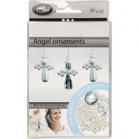 Angel Ornament, H: 2,8 cm, 32 pc/ 1 pack