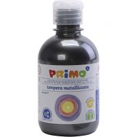 PRIMO metallic paint, black, 300 ml/ 1 pack