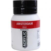Amsterdam acrylic paint, semi-transparent, Zinc white, 500 ml/ 1 bottle