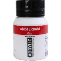 Amsterdam acrylic paint, opaque, titanium white, 500 ml/ 1 bottle