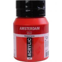 Amsterdam acrylic paint, semi opaque, Naphtol red medium, 500 ml/ 1 bottle