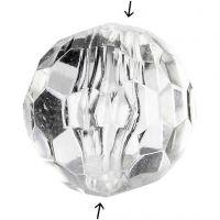 Acylic Beads, size 12 mm, hole size 1,2 mm, Gloss transparent, 77 pc/ 1 pack