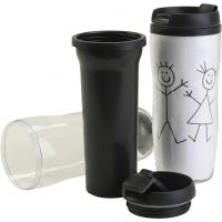 Thermo mug with lid, size 7x17,5 cm, 12 pc/ 1 pack