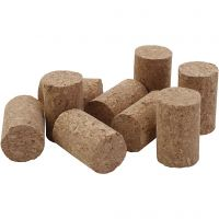 Cork, H: 4 cm, D: 2.5 cm, size 4x2,5 cm, 50 pc/ 1 pack