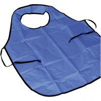 Painting apron with collar, L: 100 cm, size M-XL cm, blue, 1 pc/ 1 pack
