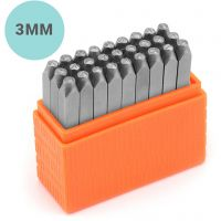 Embossing Stamps, Small letters, size 3 mm, Font: Sans Serif , 27 pc/ 1 set