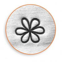 Embossing Stamp, Flower, L: 65 mm, size 6 mm, 1 pc