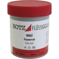 Glaze for clay, red, 200 ml/ 1 tub