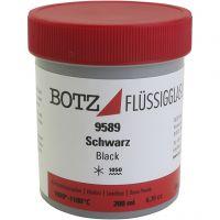 Glaze for clay, black, 200 ml/ 1 tub