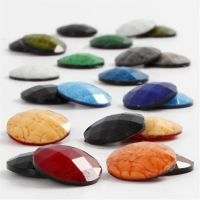 Cabochons, D: 14 mm, thickness 4 mm, assorted colours, 300 asstd./ 1 pack