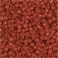 Rocaille Seed Beads, D: 3 mm, size 8/0 , hole size 0,6-1,0 mm, dark red, 500 g/ 1 pack