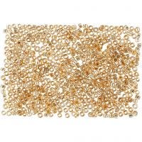 Rocaille Seed Beads, D: 1,7 mm, size 15/0 , hole size 0,5-0,8 mm, peach, 500 g/ 1 bag