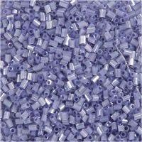 2-cut, D: 1,7 mm, size 15/0 , hole size 0,5 mm, transparent purple, 25 g/ 1 pack