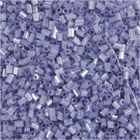 2-cut, D: 1,7 mm, size 15/0 , hole size 0,5 mm, transparent purple, 500 g/ 1 bag