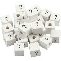 Sign Bead, ?, size 8x8 mm, hole size 3 mm, white, 25 pc/ 1 pack
