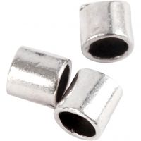 Crimpy Beads Tubes, size 2x2 mm, hole size 1,4 mm, silver-plated, 80 pc/ 1 pack