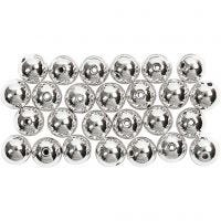 Wax Beads, D: 8 mm, hole size 1 mm, silver, 50 pc/ 1 pack