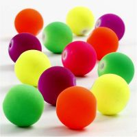Neon Beads, D: 12 mm, hole size 2 mm, 200 g/ 1 pack