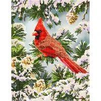 Diamond Dotz, Good Fortune Cardinal, size 35,5x45,7 cm, 1 pack