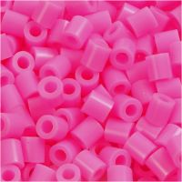 Fuse Beads, size 5x5 mm, hole size 2,5 mm, medium, rose (32222), 6000 pc/ 1 pack
