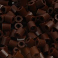 Fuse Beads, size 5x5 mm, hole size 2,5 mm, medium, brown (32229), 1100 pc/ 1 pack
