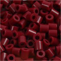 Fuse Beads, size 5x5 mm, hole size 2,5 mm, medium, claret (32239), 6000 pc/ 1 pack